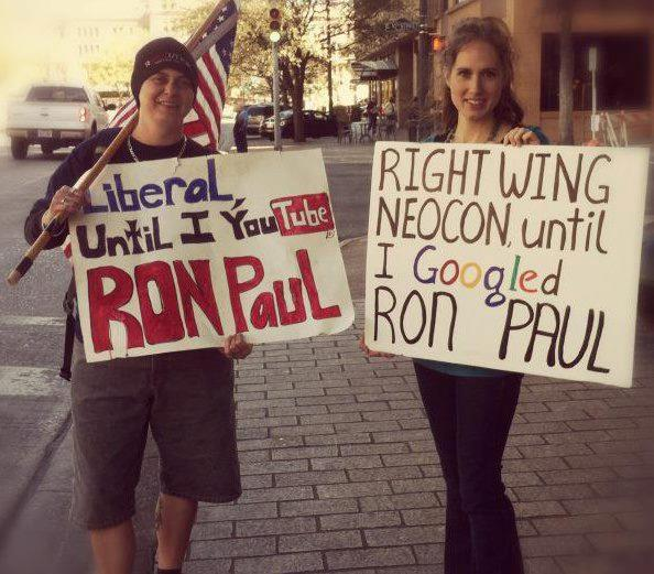 Ron Paul Supporters are from Right-wing and Liberal.